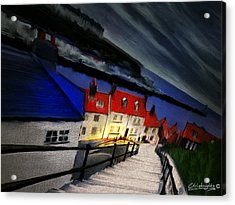 199 Steps Acrylic Print by Chris Knights
