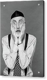 1990s Portrait Jewish Man Gray Beard Acrylic Print