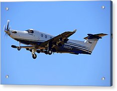 1999 Pilatus Pc-12-45 On Climb-out N903pj Acrylic Print
