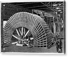 19th C Egyptian Hydraulic Factory Acrylic Print by Collection Abecasis/science Photo Library