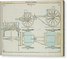 19th Century German Ammunition Carriage Acrylic Print