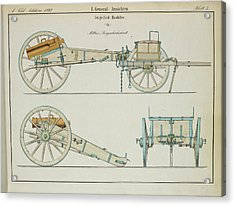 19th Century German Artillery Piece Acrylic Print
