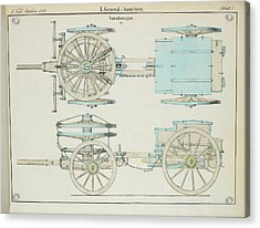 19th Century German Artillery Repair Cart Acrylic Print
