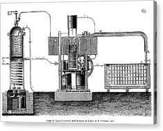 19th Century Ice-making Machine Acrylic Print by Collection Abecasis/science Photo Library