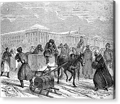 19th Century Ice Transportation Acrylic Print by Collection Abecasis