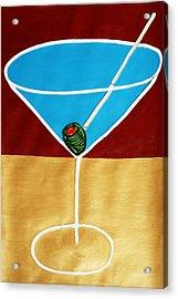 1st Martini Acrylic Print by Matthew Brzostoski