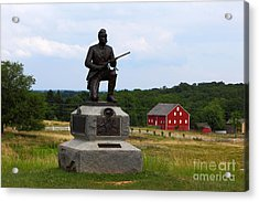 1st Pennsylvania Cavalry Defending Cemetery Ridge Acrylic Print by James Brunker