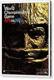1st Super Bowl Program Cover Acrylic Print by Marvin Blaine
