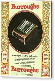 1920s Usa Equipment Burroughs Adding Acrylic Print by The Advertising Archives