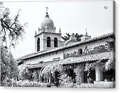 Facade Of The Chapel Mission San Carlos Borromeo De Carmelo Acrylic Print by Ken Wolter