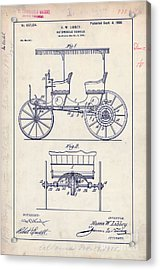1900 Automobile Patent Drawing Acrylic Print