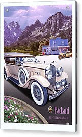 Acrylic Print featuring the photograph 1930 Packard 740 Phaeton  by Ed Dooley