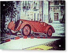 Acrylic Print featuring the painting 1937 Alfa Romeo 8c 2900a by Boris Mordukhayev