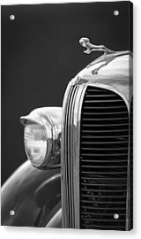 1938 Dodge Ram Grille - Hood Ornament Acrylic Print by Jill Reger