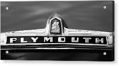 1949 Plymouth P-18 Special Deluxe Convertible Emblem Acrylic Print