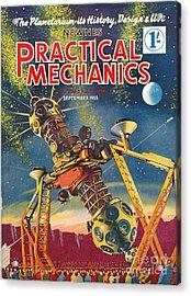 1950s Uk Practical Mechanics Magazine Acrylic Print by The Advertising Archives