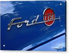 1954 Ford F250 Insignia. Acrylic Print