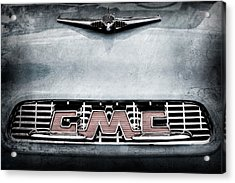 1956 Gmc 100 Deluxe Edition Pickup Truck Hood Ornament - Grille Emblem Acrylic Print by Jill Reger