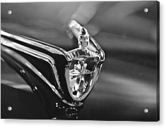 1956 Lincoln Premiere Convertible Hood Ornament Acrylic Print by Jill Reger