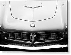 1958 Bmw 507 Series II Roadster Hood Emblem Acrylic Print