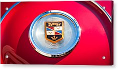 1960 Chrysler Imperial Crown Convertible Emblem Acrylic Print by Jill Reger