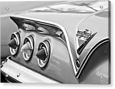 1961 Chevrolet Ss Impala Tail Lights Acrylic Print by Jill Reger