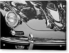 Acrylic Print featuring the photograph 1963 Porsche 356 B Cabriolet Hood Emblem by Jill Reger
