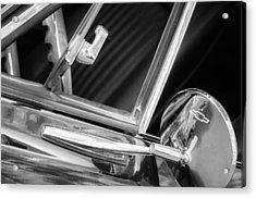 1967 Chevrolet Camaro Ss 350 Rear View Mirror Emblem Acrylic Print