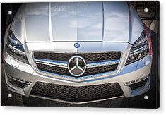 2012 Mercedes Cls 63 Amg Twin Turbo Bw Acrylic Print by Rich Franco
