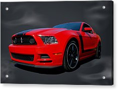 2013 Mustang Boss 302 Acrylic Print by Tim McCullough