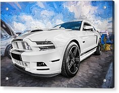 2014 Ford Mustang Gt Cs Painted  Acrylic Print by Rich Franco