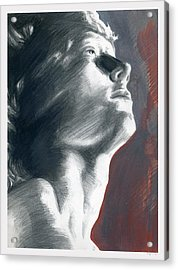 Acrylic Print featuring the painting A Boy Named Faith by Rene Capone