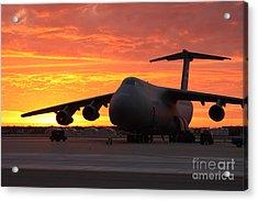 A C-5 Galaxy Sits On The Flightline Acrylic Print