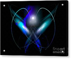 A Digital Painting Of Abstract Colouful Heart Acrylic Print