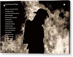 A Firemens Prayer Acrylic Print by Jim Lepard