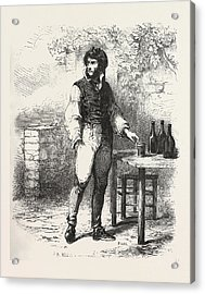 A Glass Of Wine In The Garden, The Count Of Monte Christo Acrylic Print by English School
