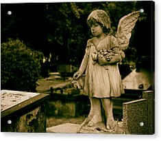 A Little Angel Watching Over Acrylic Print