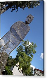 Acrylic Print featuring the photograph Minujin's A Man Of Mesh by Cora Wandel