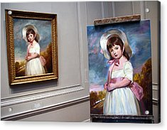 Acrylic Print featuring the photograph A Painting Of A Painting by Cora Wandel