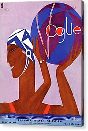 A Vintage Vogue Magazine Cover Of An African Acrylic Print by Eduardo Garcia Benito