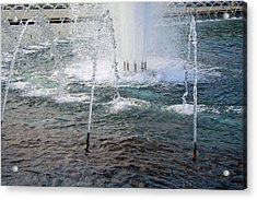Acrylic Print featuring the photograph A World War Fountain by Cora Wandel