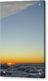 Above Cloudscape At Sunset Acrylic Print by Sami Sarkis
