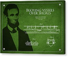 Abraham Lincoln Patent From 1849 Acrylic Print by Aged Pixel