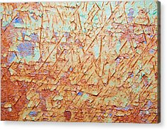 Abstract  Rust And Metal Series Acrylic Print by Mark Weaver