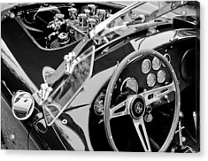 Ac Shelby Cobra Engine - Steering Wheel Acrylic Print by Jill Reger