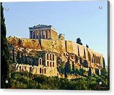Acropolis Acrylic Print by Ellen Henneke
