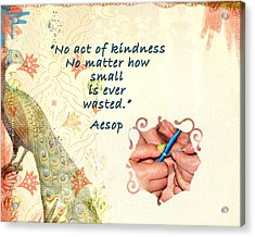 Act Of Kindness Acrylic Print by Linda Cox