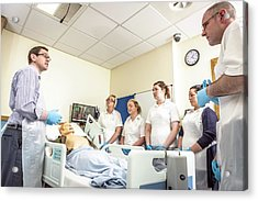 Acute Care And Resuscitation Training Acrylic Print by Gustoimages