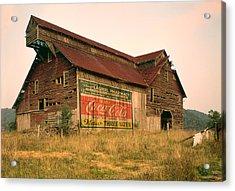 Advertising Barn Acrylic Print by Gary Grayson
