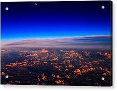 Aerial Moonrise Acrylic Print by Jonathan Gewirtz